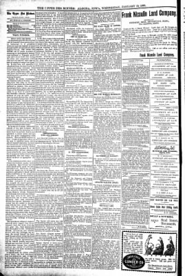 The Algona Upper Des Moines from Algona, Iowa on January 19, 1898 · Page 4