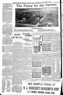 The Algona Upper Des Moines from Algona, Iowa on January 19, 1898 · Page 6