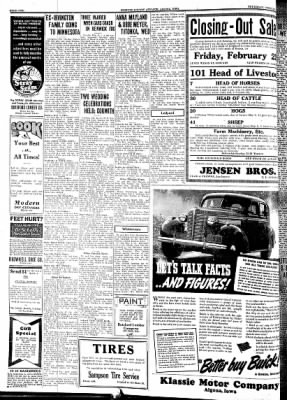 Kossuth County Advance from Algona, Iowa on February 17, 1938 · Page 2