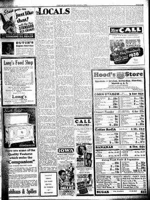 Kossuth County Advance from Algona, Iowa on March 3, 1938 · Page 5