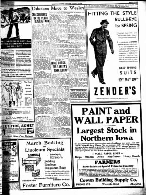 Kossuth County Advance from Algona, Iowa on March 3, 1938 · Page 7
