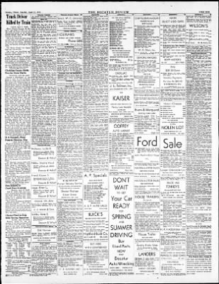 The Decatur Daily Review From Decatur Illinois On April 21 1951