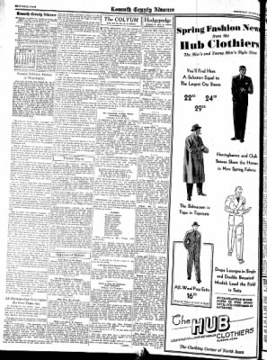Kossuth County Advance from Algona, Iowa on March 24, 1938 · Page 6