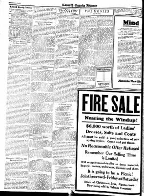 Kossuth County Advance from Algona, Iowa on April 7, 1938 · Page 6
