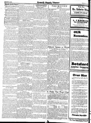 Kossuth County Advance from Algona, Iowa on May 19, 1938 · Page 6