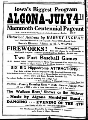 Kossuth County Advance from Algona, Iowa on June 23, 1938 · Page 11