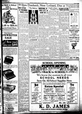 Kossuth County Advance from Algona, Iowa on August 25, 1938 · Page 11