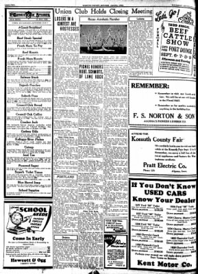 Kossuth County Advance from Algona, Iowa on September 1, 1938 · Page 10