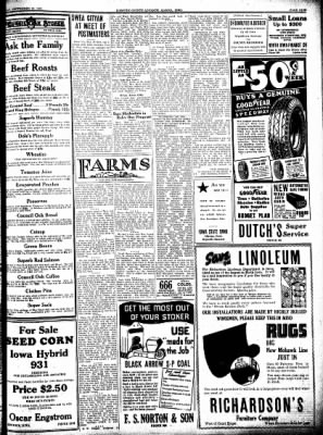 Kossuth County Advance from Algona, Iowa on September 29, 1938 · Page 9
