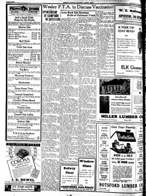 Kossuth County Advance from Algona, Iowa on October 13, 1938 · Page 10