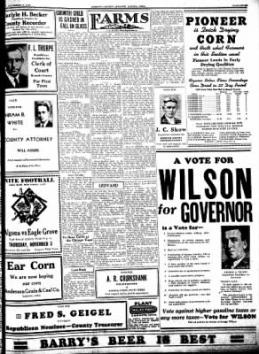 Kossuth County Advance from Algona, Iowa on November 3, 1938 · Page 9