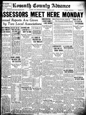 Kossuth County Advance from Algona, Iowa on January 5, 1939 · Page 1