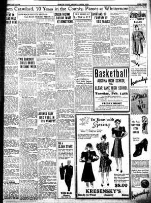 Kossuth County Advance from Algona, Iowa on February 14, 1939 · Page 3