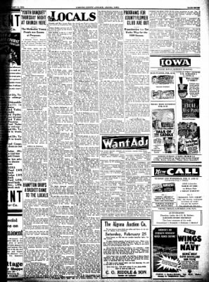 Kossuth County Advance from Algona, Iowa on February 21, 1939 · Page 7