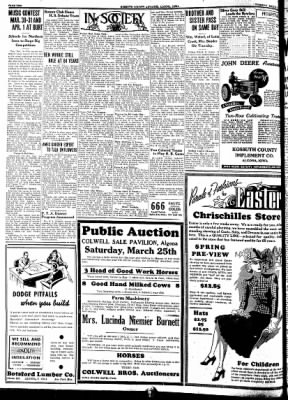 Kossuth County Advance from Algona, Iowa on March 21, 1939 · Page 10