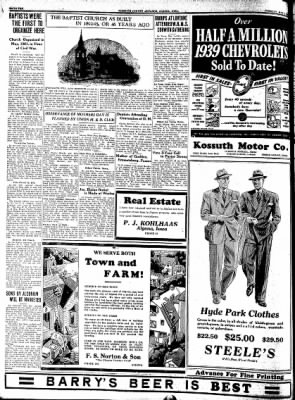 Kossuth County Advance from Algona, Iowa on May 2, 1939 · Page 18