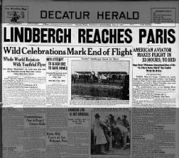 Lindbergh Reaches Paris