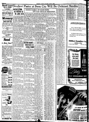 Kossuth County Advance from Algona, Iowa on June 6, 1939 · Page 14
