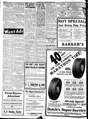 Kossuth County Advance from Algona, Iowa on June 27, 1939 · Page 6