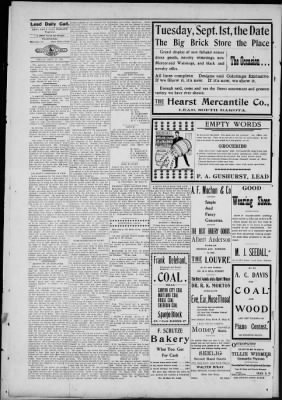 Lead Daily Call from Lead, South Dakota on September 25, 1903 · Page 4