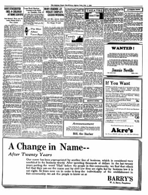 The Algona Upper Des Moines from Algona, Iowa on February 1, 1934 · Page 6