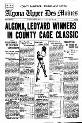 The Algona Upper Des Moines from Algona, Iowa on February 22, 1934 · Page 10