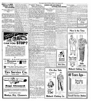 The Algona Upper Des Moines from Algona, Iowa on April 12, 1934 · Page 9