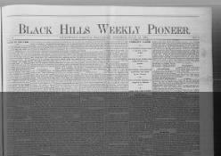 Black Hills Weekly Pioneer