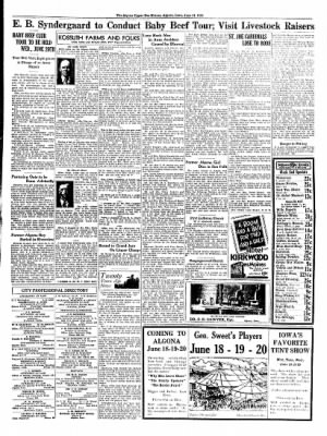 The Algona Upper Des Moines from Algona, Iowa on June 14, 1934 · Page 7