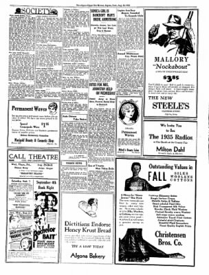 The Algona Upper Des Moines from Algona, Iowa on August 30, 1934 · Page 6