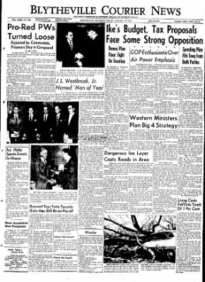 The Courier News from Blytheville, Arkansas on January 22, 1954 · Page 1