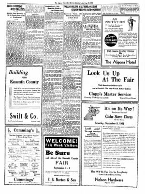 The Algona Upper Des Moines from Algona, Iowa on August 30, 1934 · Page 16