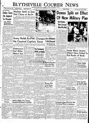 The Courier News from Blytheville, Arkansas on January 23, 1954 · Page 1