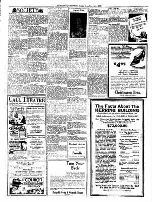 The Algona Upper Des Moines from Algona, Iowa on November 1, 1934 · Page 6