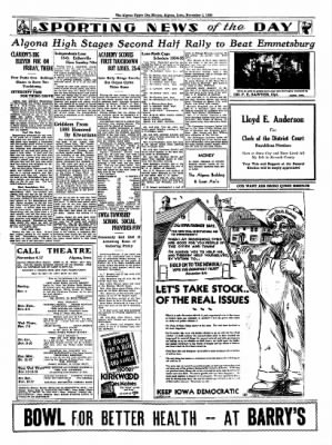 The Algona Upper Des Moines from Algona, Iowa on November 1, 1934 · Page 11