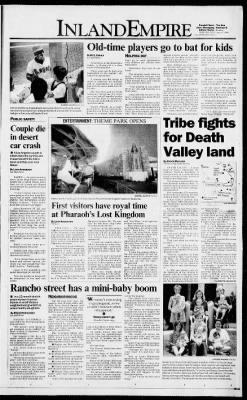The San Bernardino County Sun from San Bernardino