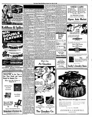 The Algona Upper Des Moines from Algona, Iowa on May 19, 1936 · Page 7