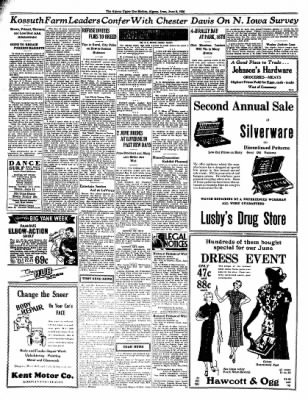 The Algona Upper Des Moines from Algona, Iowa on June 9, 1936 · Page 8