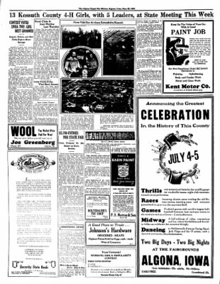 The Algona Upper Des Moines from Algona, Iowa on June 23, 1936 · Page 6