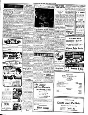 The Algona Upper Des Moines from Algona, Iowa on July 7, 1936 · Page 4