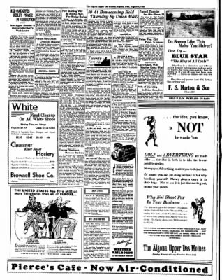 The Algona Upper Des Moines from Algona, Iowa on August 4, 1936 · Page 7