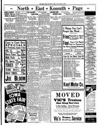 The Algona Upper Des Moines from Algona, Iowa on August 4, 1936 · Page 8