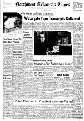Northwest Arkansas Times from Fayetteville, Arkansas on April 30, 1974 · Page 1