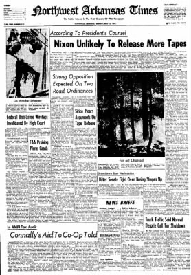 Northwest Arkansas Times from Fayetteville, Arkansas on May 13, 1974 · Page 1