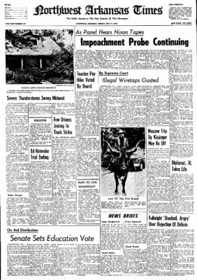 Northwest Arkansas Times from Fayetteville, Arkansas on May 14, 1974 · Page 1