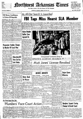 Northwest Arkansas Times from Fayetteville, Arkansas on May 20, 1974 · Page 1