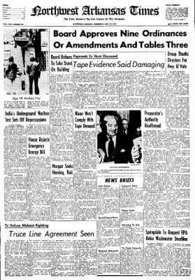 Northwest Arkansas Times from Fayetteville, Arkansas on May 22, 1974 · Page 1