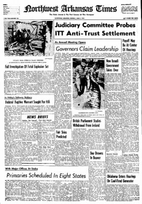Northwest Arkansas Times from Fayetteville, Arkansas on June 3, 1974 · Page 1