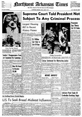 Northwest Arkansas Times from Fayetteville, Arkansas on June 21, 1974 · Page 1