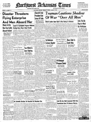 Northwest Arkansas Times from Fayetteville, Arkansas on January 9, 1952 · Page 1